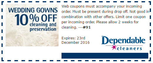 coupon wedding dependable cleaners